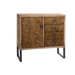 MB-143018 - szekrény, fa, fém,  80X30X80, természetes