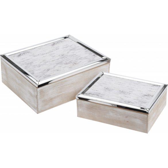 Szürke ékszertartó doboz