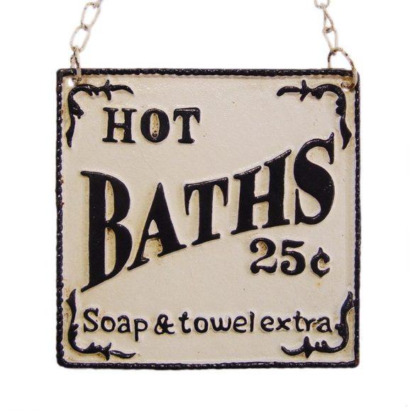 HOT BATHS tábla