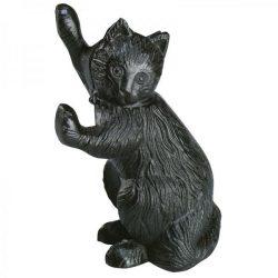 Öntöttvas cica ajtókitámasztó