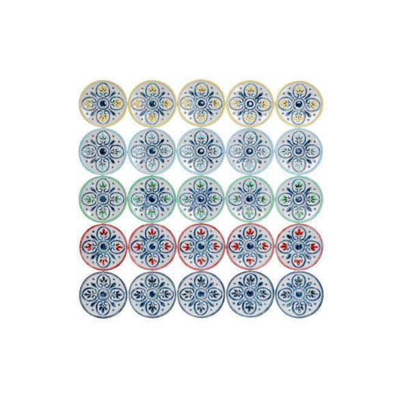 Dekoráció falra fém 68x4,5x68 népies fehér