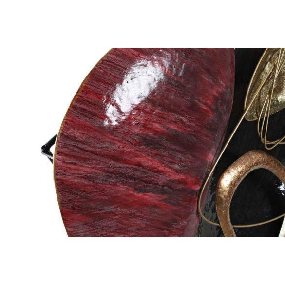 Dekoráció falra fém 99x10x86,5 absztrakt piros