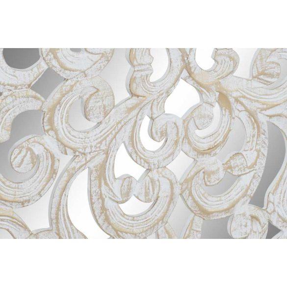 Dekoráció falra mdf tükrös 120x2x120 fehér