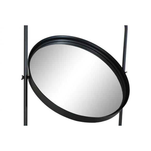 Tükör fém 53x20x120 2 polcos fekete