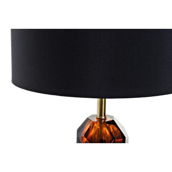 Lámpa asztali üveg fém 38x38x70 aranyozott