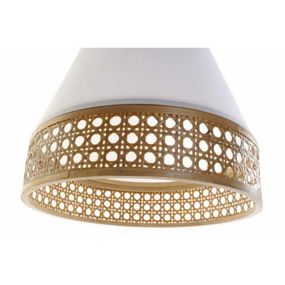 Lámpa, mennyezeti, bambusz, poliészter, 46x46x45, természetes