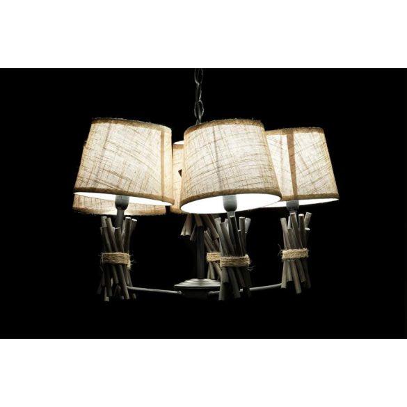 Lámpa mennyezeti fém poliészter 58x58x30 szürke