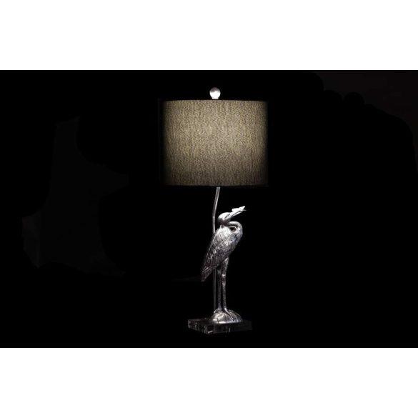 Lámpa asztali műgyanta poliészter 33x33x74 gém