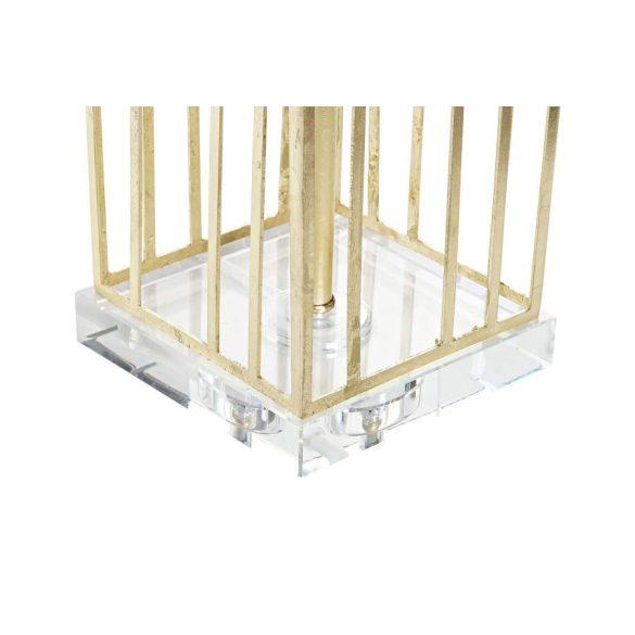 Lámpa asztali fém poliészter 41x41x72 agatha