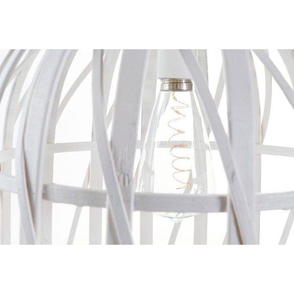 Lámpa mennyezeti led bambusz 30,5x30,5x40,5 3xaa fehér