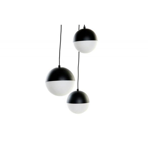 Lámpa mennyezeti fém üveg 40x40x80 gömbök fekete