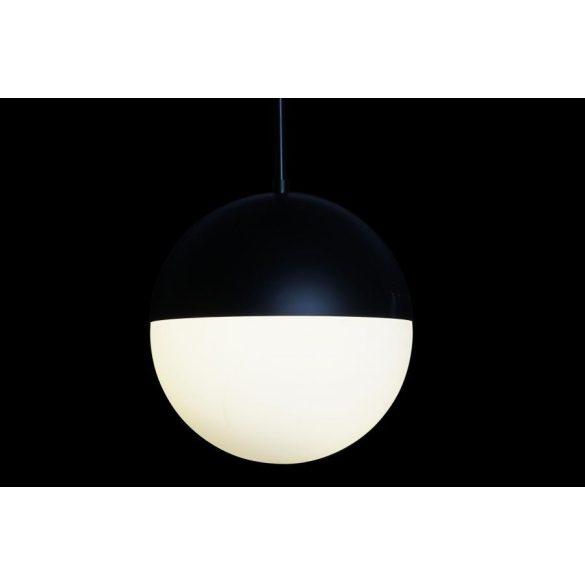 Lámpa mennyezeti fém üveg 30x30x50 gömb fekete