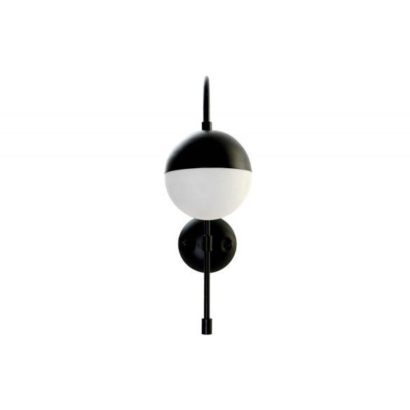Lámpa fém üveg 15x27x38 gömb fekete