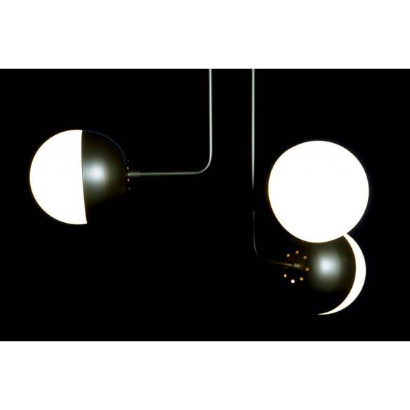 Lámpa mennyezeti fém üveg 58x58x46 gömbök aranyozott