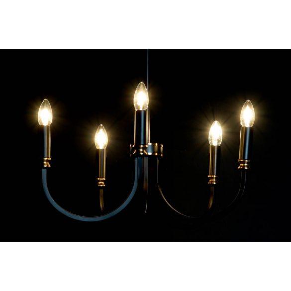 Lámpa mennyezeti fém 52x52x25 fekete