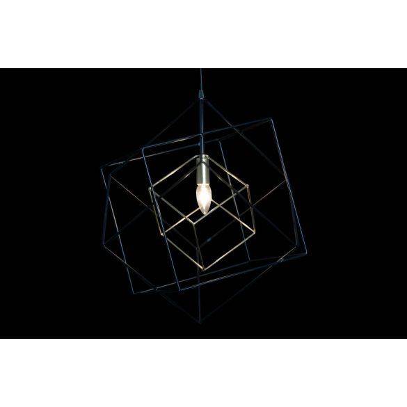 Lámpa mennyezeti fém 48x42x53 fekete