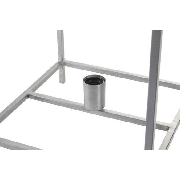Lámpa asztali fém 33x33x40 szürke