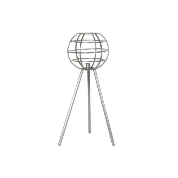Lámpa asztali fém 40x40x83 szürke