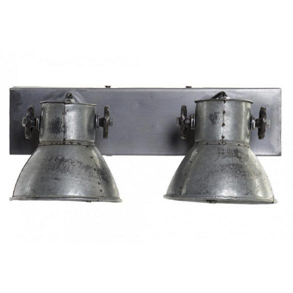 Lámpa vas 42x17x25 szürke