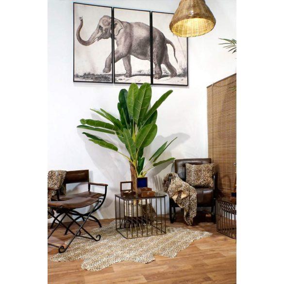 Lámpa mennyezeti fonott fém 45x45x51 barna