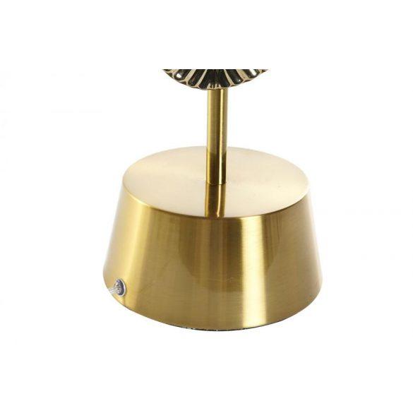 Lámpa asztali fém üveg 38x38x70 levél