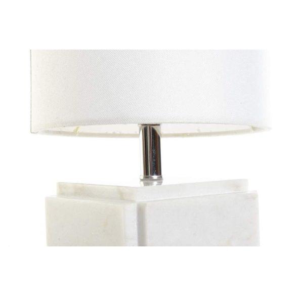 Lámpa asztali márvány fém 20x20x34 fehér