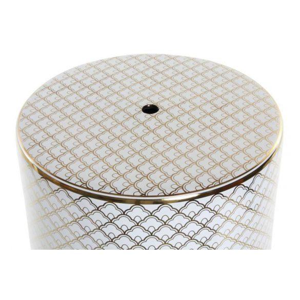 Asztal telefonos porcelán 33,5x33,5x44 fehér