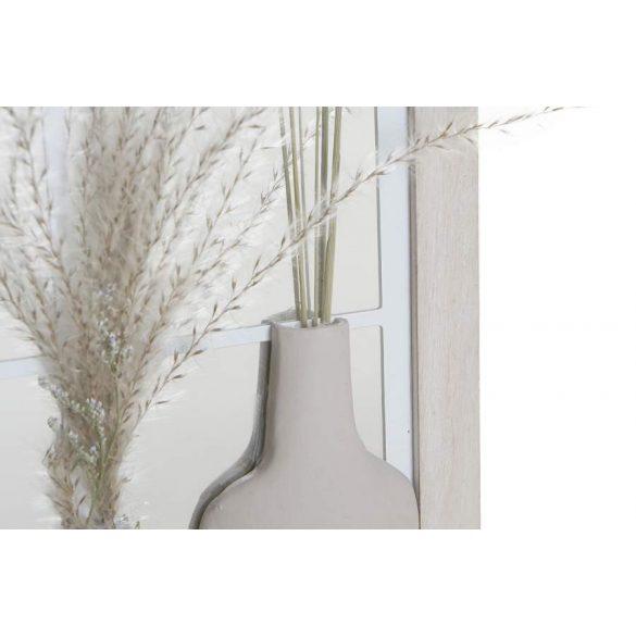 Tükör mdf tükör 35x10x50 falra virágok fehér
