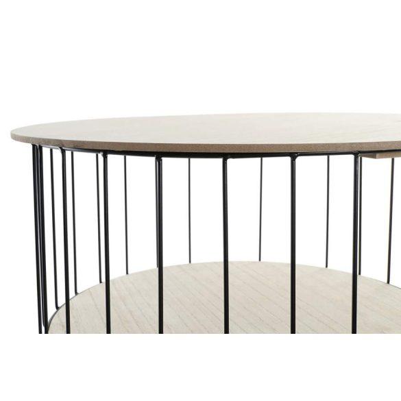Asztal telefonos mdf vas 45x45x50,5 természetes