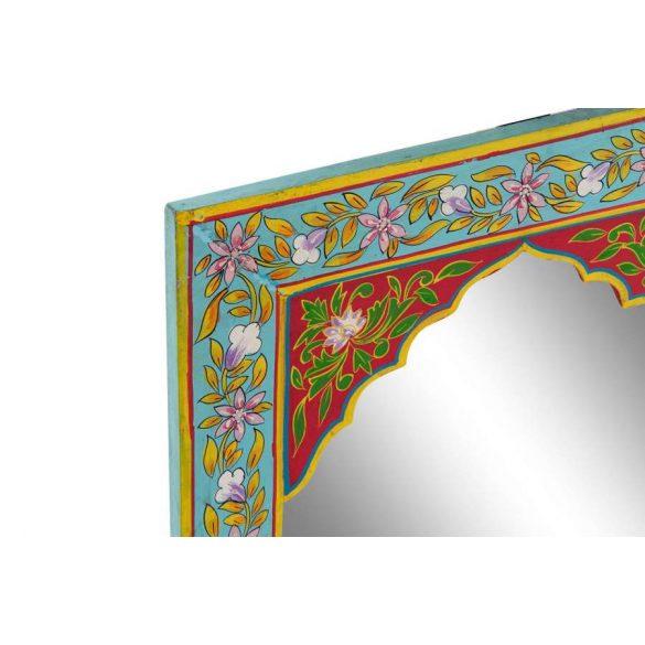 Tükör mdf 40,5x1,5x56 virágos kézzel festett piros