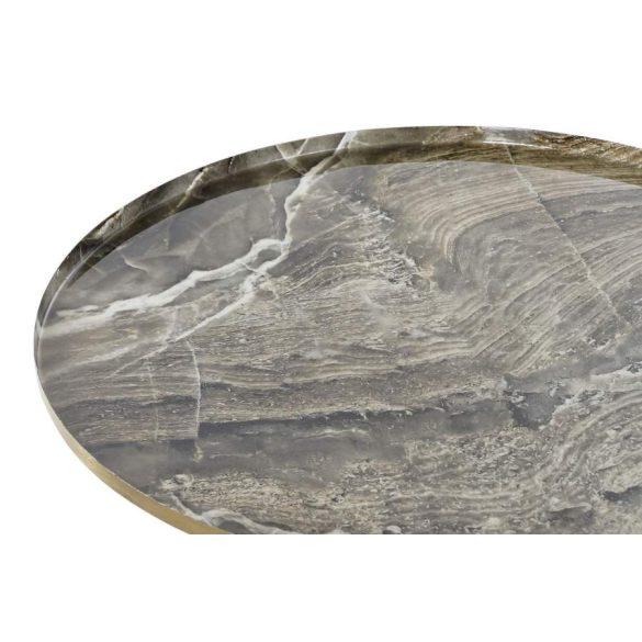 Asztal telefonos aluminium 51x51x52 márvány
