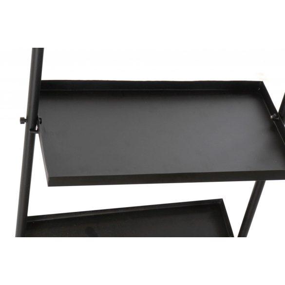 Polc fém tükör 40x20x160 fekete