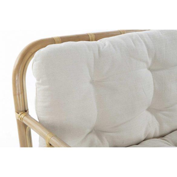 Fotel rattan pamut 76x63x80 természetes barna