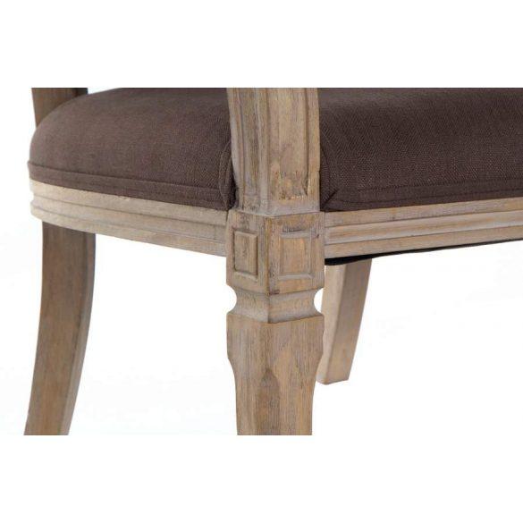 MB-175516 - Szófa vászon rubberwood 122x69x72 barna