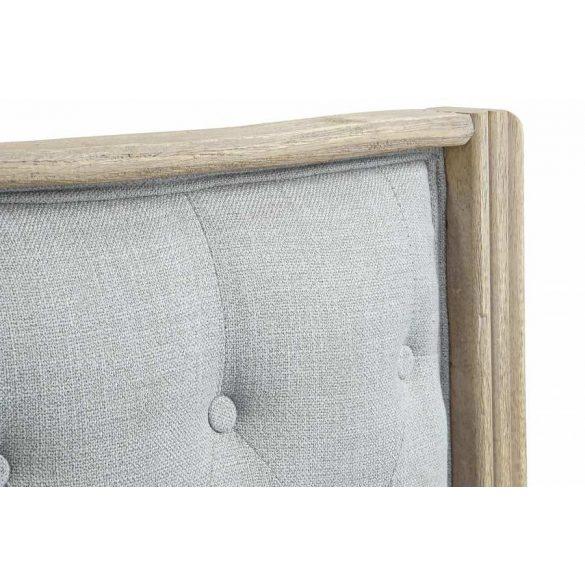Ágytámla vászon rubberwood 180x10x120 szürke