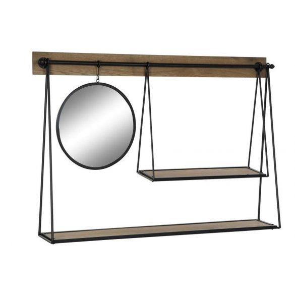 Polc fém tükör 120x20x81
