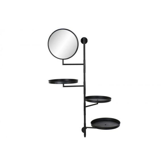 Tartó fém tükör 70x37x138 fekete