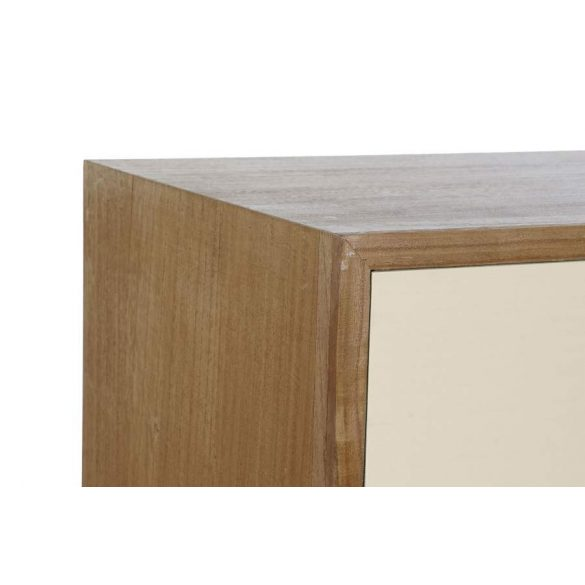 Bútor paulownia fém 120x40x77 szürke