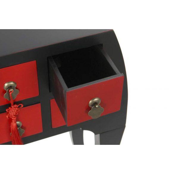 Konzol fenyő mdf 98x26x80 piros