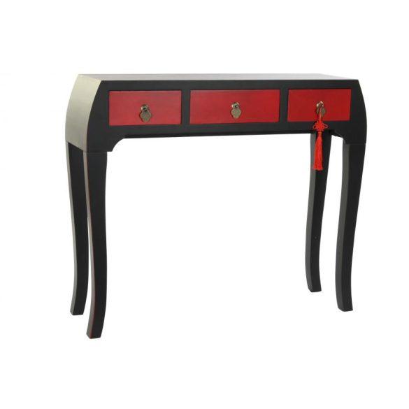Konzol fenyő mdf 96x26x80 piros