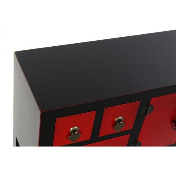 Konzol fenyő mdf 95x24x79 piros