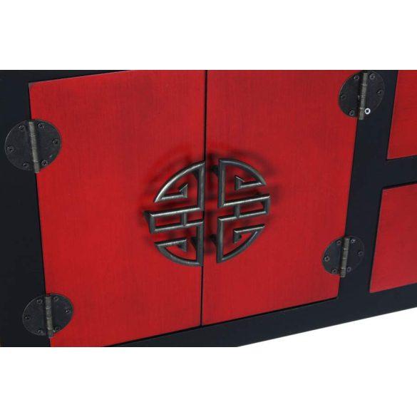 Konzol fenyő mdf 63x26x83 piros