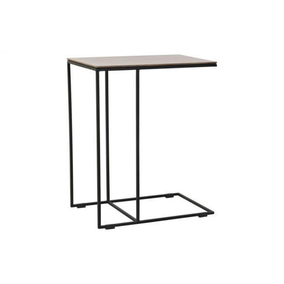 Asztal telefonos fém fa 50x30x61 természetes
