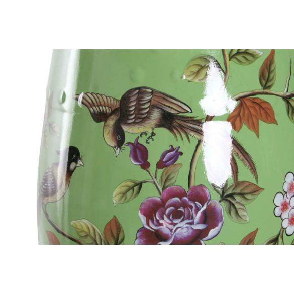 Asztal telefonos porcelán 35x35x47 madaras zöld