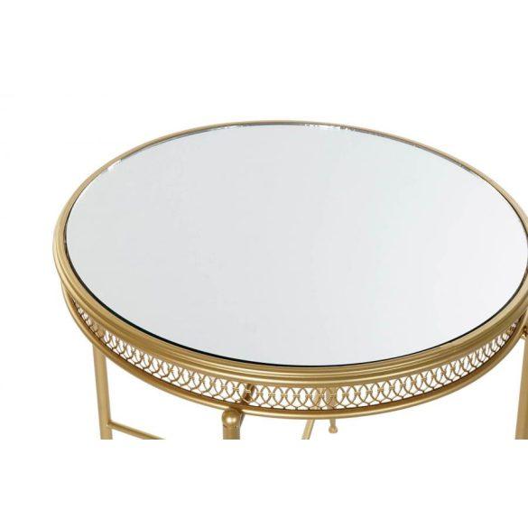 Asztal telefonos fém tükör 56x56x56