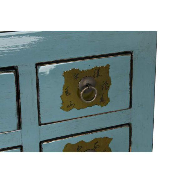 Fiókos szekrény szilfa fém 105x44x98