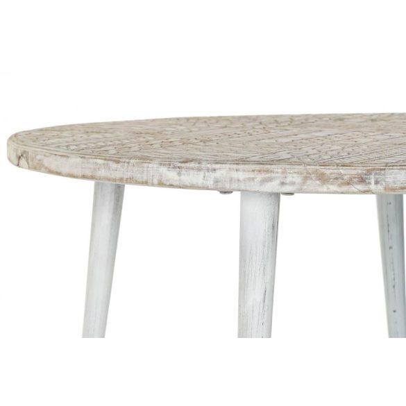 Asztal telefonos mango fém 75x75x80 fehér