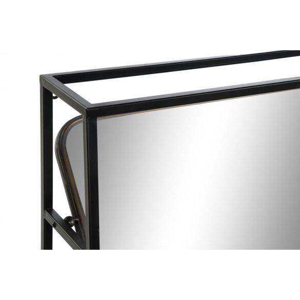 Tükör fém 110x23x80 fiókok fekete