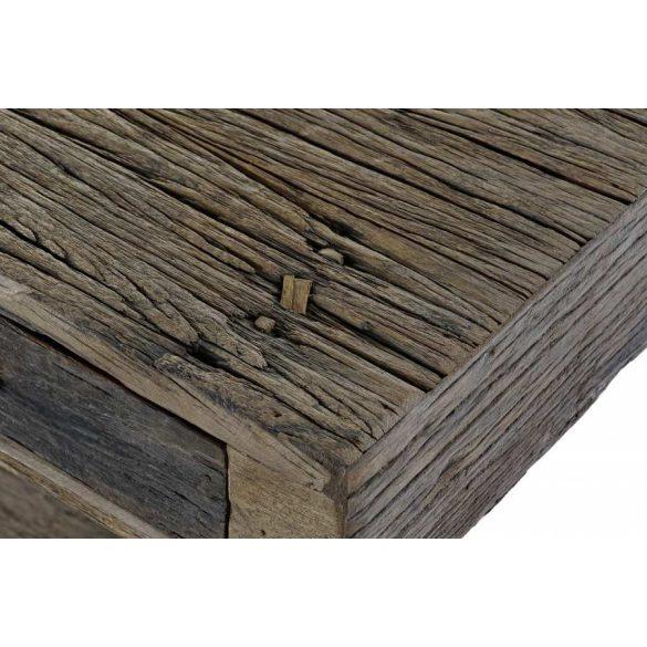 Konzol fa újrahasznosított fém 180x40x85