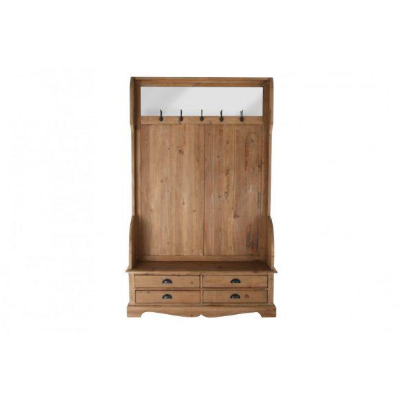 Előszobaszekrény fa tükör 125x40x200